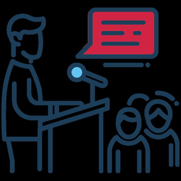 Keynote Speaking Icon